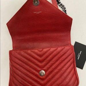 Yves Saint Laurent Bags - YSL college bag medium red